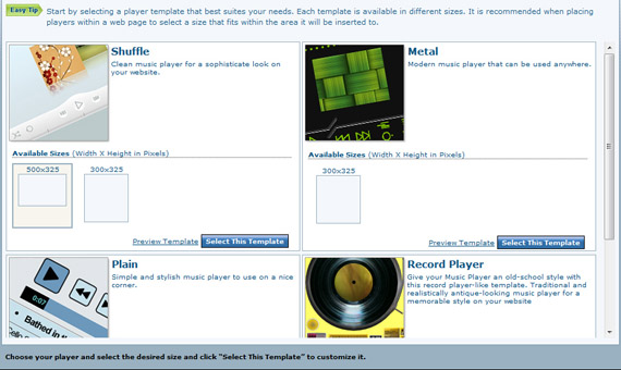 Website Custom Music Player