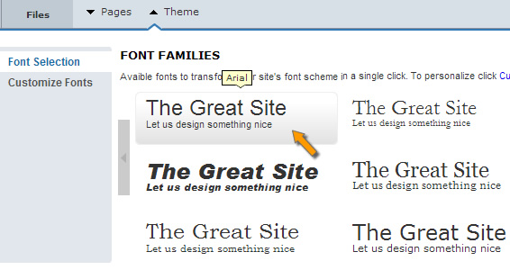 Select proper font in web design
